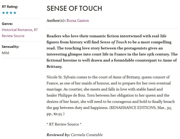 RT Review Sense of Touch April 2016
