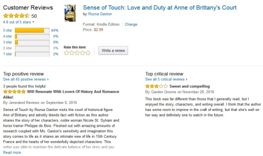50 Reviews for Sense of Touch 2